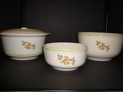 Vintage Set Of 3 Nesting Mixing Bowls - Oxford Stoneware Brazil