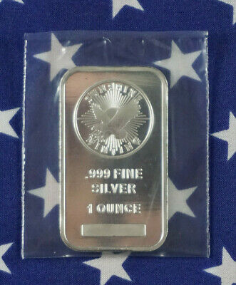 Sunshine Mint Uncirculated Patriotic Eagle 1oz .999 Fine Solid Silver Bar US A1