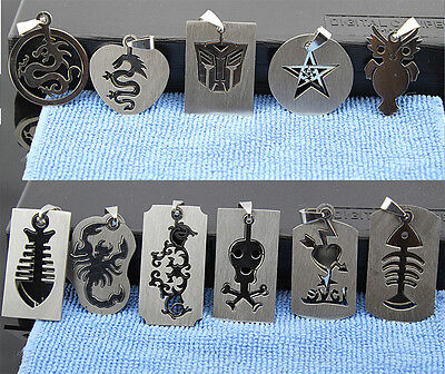 New Wholesale Mixed 30pcs stainless steel 361L Mixed Design men's pendent/Locket