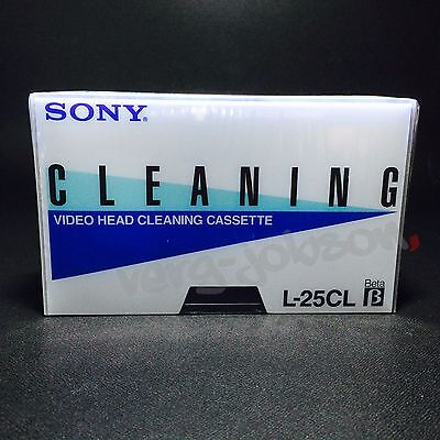 SONY Video Head Cleaning Cassette Tape Cleaner Dry for Beta VTR Player Brand New