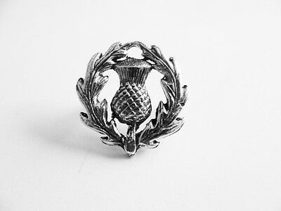 Scottish Thistle English Pewter  Pin (PP) / Brooch  Celtic