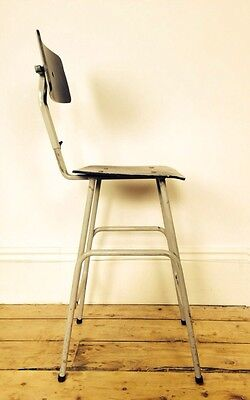Vtg Mid Century 1950s Industrial Printers Chair Stool Cafe Fitting