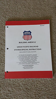 Union Pacific RR Special Instructions Effective July 2, 2013