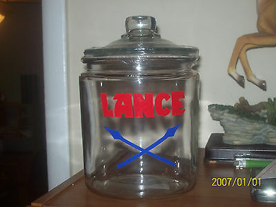 Lance Snacks Small Advertising Counter Top Store Display Jar With Lid