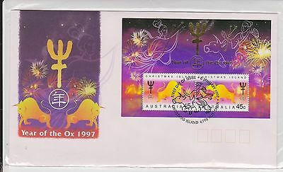 (ICD160) 1997 Christmas Island M/S year of the OX (B)