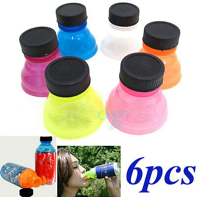 NEW 6pcs Soda Can Bottle Caps For Cool Fizz Coke Drink Lid Cap Can convert 358