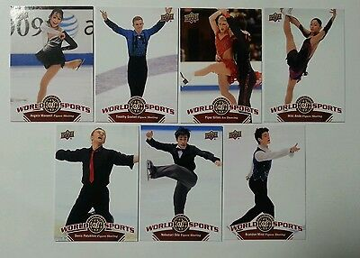 2010 Upper Deck World of Sports Ice Dancing Cards x7