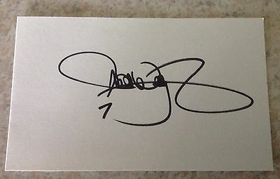 Michael Waltrip - NASCAR - Autographed 3 x 5 Index Card