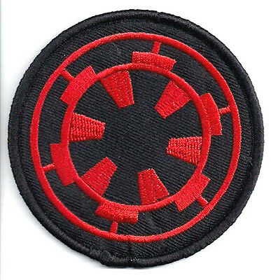 "Star Wars Imperial Cog Logo- 3"" Red & Black  Patch- FREE S&H (SWPA-FC-16)"