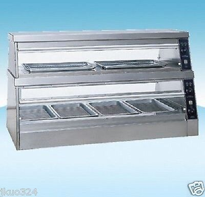 "Heated Glass Food  Display Warmer Cabinet Case 60"" or 5 FT Stainless Steel"