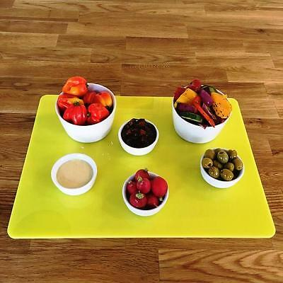 Rectangle Serving Mats, Centerpiece / Table Protectors in Yellow Acrylic
