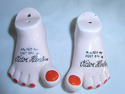 Walked My Feet Off In Victor Harbor Salt & Pepper Shakers