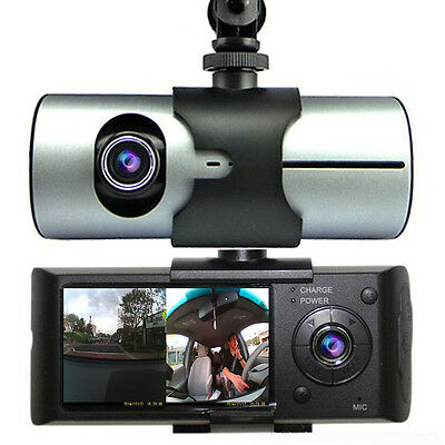 Car Blackbox DVR DashCam Double Camera (Front+Rear) Driving Recorder GPS Tracker