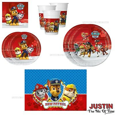 PAW PATROL Boys Hero Rescue Pups Birthday Party Tableware Plates Cups Napkins