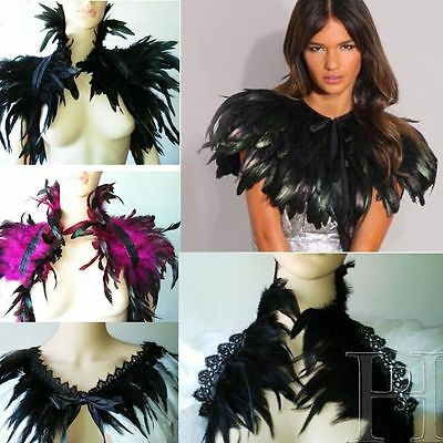 Halloween Feather Sewing Trimming Collar Fringe Women Shawls Coque Trim Craft
