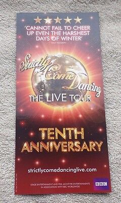 STRICTLY COME DANCING 2017 UK Tour/Concert Flyer TV Dance Show BBC Television