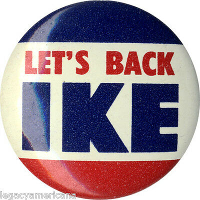 1952 Dwight Eisenhower LET'S BACK IKE Campaign Button (2761)