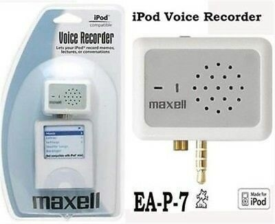 MAXELL P-7 Voice Recorder for iPod