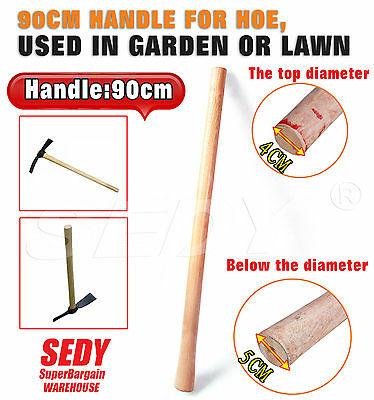 New 90cm Heavy Duty Wooden Hoe Handle Gardening Garden Hand Tool Mattock