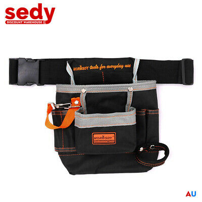 8 Pockets Tool Bag with Belt Electrician Pouch Belt Kit Carry Tool Holder 90514