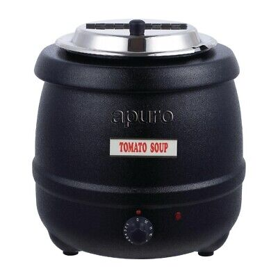 Soup Kettle / Warmer, Black, Commercial Quality, 10 Litre, Chilli, Sauce, Apuro