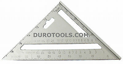 7 Inch Rafter Angle Alumium Square Speed Framing Carpenter Builder Ruler Gauge