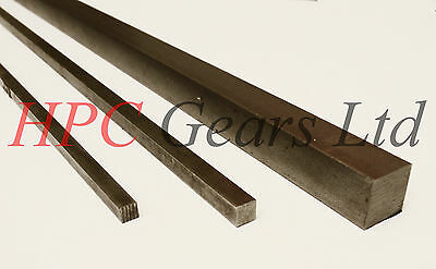 Metric Key Steel 316 A4 Stainless Square Bar 3mm 4mm 5mm 6mm 8mm 10mm HPC Gears