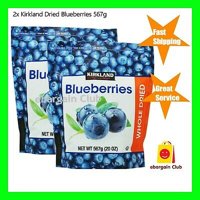 2x Kirkland Whole Dried Blueberries 567g (Total =1.134kg) eBargain Club
