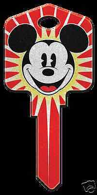 Mickey Mouse Glitter Disney Collectable Uncut House Key Blank