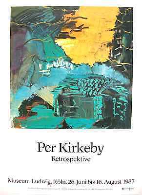 Per Kirkeby Museum Exhibition Poster