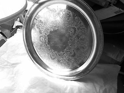 Silverplated tray International Silver Castleton 14 1/4 inches etched-look