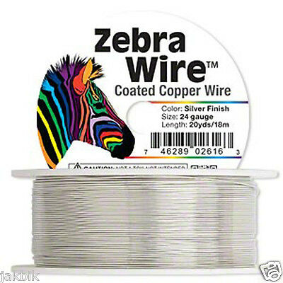 2 Roles X Wire, Zebra Wire™, silver, gold, natural copper, round, choose size
