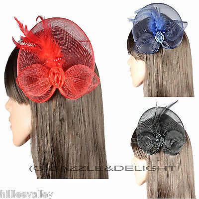 Fascinator Net Beak Clip Hatinator Racing Wedding Party Prom Fascinators