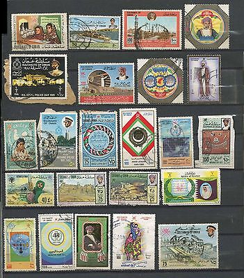 Oman A Small Collection Of Approx 350 Fine Used Stamps. AS PER SCAN.