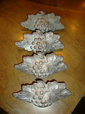 Lot Of 4 Antique Grapevine Cast Lead Drawer Pulls