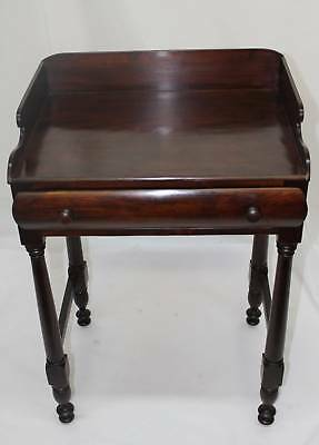 American Empire Mahogany Wash Stand Server Circa 19th