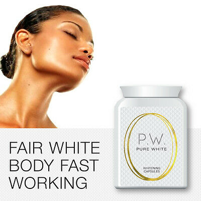 Pure White Whitening Capsules Get Fair Light Bright Skin Pills Clear Light Body