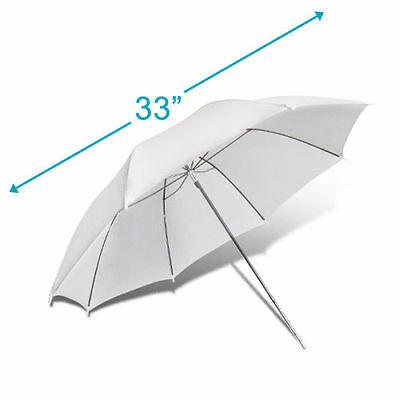 33 inch photography Pro Studio Reflector Translucent White diffuser Umbrella WP