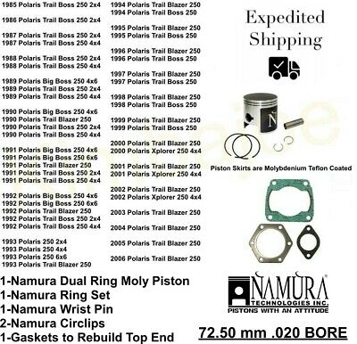 73.46mm~1997 Polaris Trail Blazer 250~Namura Technologies Inc. Piston Ring Set