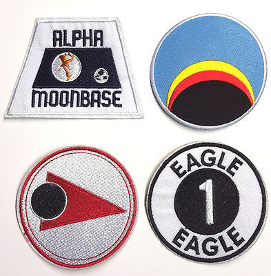 """Space:1999 Patch Set of 4 Uniform Patches- 3"""" to 3.5""""-FREE S&H(SPPA-SET-4)"""