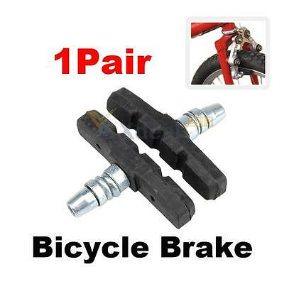 2pc Durable Bicycle Cycling Bike V Brake Holder Pads Shoes Blocks Black