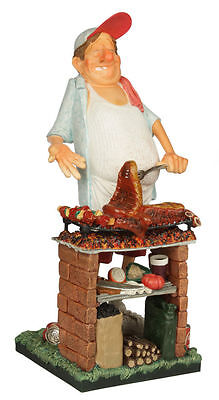 MR BARBEQUE Sculpture Mr BBQ Hand Made Detailed & Painted by GUILLERMO FORCHINO