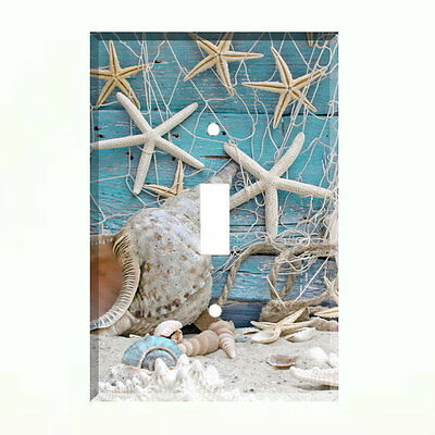 Starfish Sea Shells Beach Light Switch Plate Wall Cover Tropical Decor