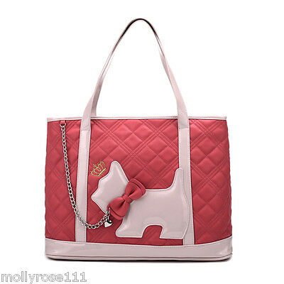 Pink Watermelon Feel Young Womans Shoulder Tote Handbag Scottie Dog RRP $95