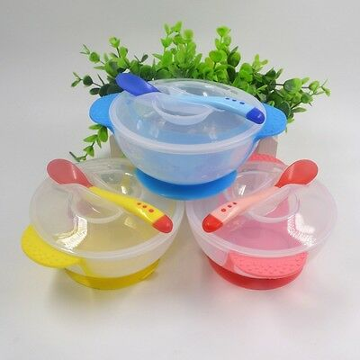Portable Baby Kids Plastic Spoons Bowls Cutlery Set Children Party Feeding Tool