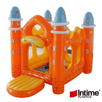 Kids Inflatable Crayon Bouncer House Jump Bouncer Playhouse Bouncy Castle Slide