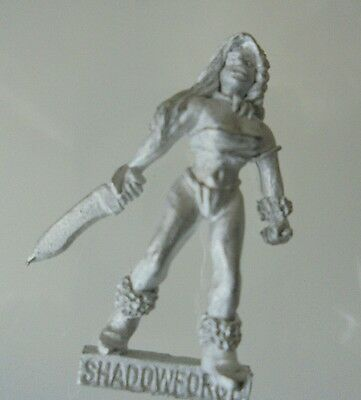 1x unknown fantasy Amazon barbarian female fighter metal shadow forge figure#Q