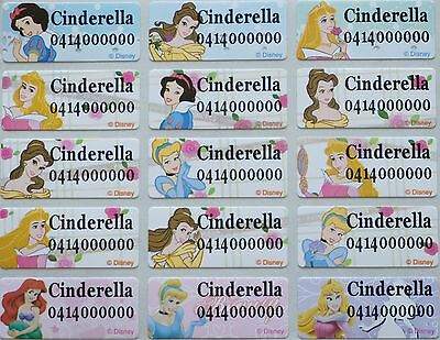 36 IRON ON Disney Princess Name Stickers Tag / Label for clothing, 3.0 X 1.3 CM
