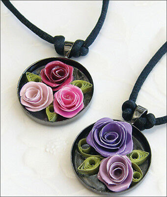 Quilled Creations Quilling Kit - Romantic Roses Necklace