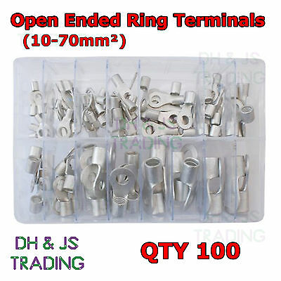 Assorted Box of Assorted Open Ended Ring Terminals (10-70mm²) Crimp Cable
